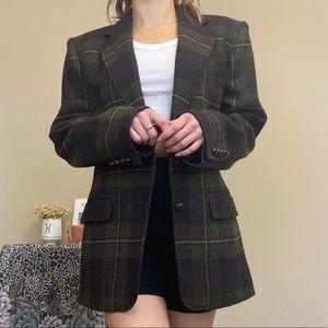 Size 10 LAUREN RAPLH LAUREN Green Plaid Blazer